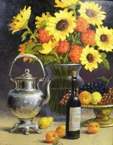 Still Life - Sunflower Setting 30x24  $4500 SOLD