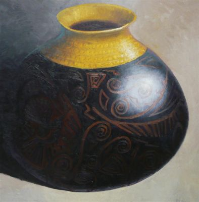 Clay Pots and Vessels - Ash Water Vessel 48x48  $5700 SOLD