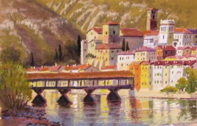 Watercolors - Bassano Bridge 7x11  $750