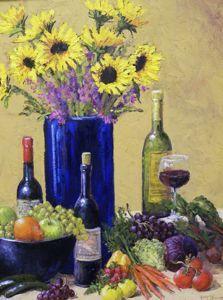 Still Life - Blue Vase 30x24  $4500