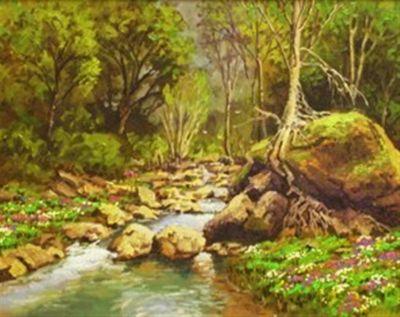 Western Landscapes - California Creek 16x20 $2500