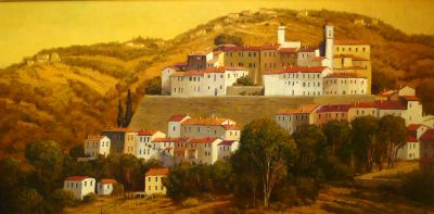 European Landscape - Casteliano 36x72  $11500 SOLD