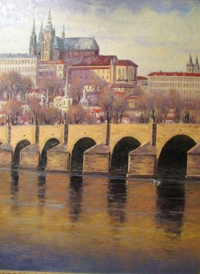 European Landscape - Prague, Charles Bridge40x30 (Sold)