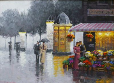 Street Scenes - Colorful Rain 12x16  $1950