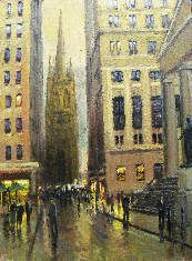Street Scenes - Trinity Church 12x9 $1500