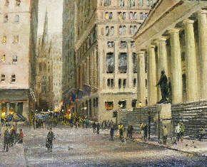 Street Scenes - Wall Street 12x16 $3250