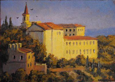 5x7 Paintings - Itallian Monastery SOLD
