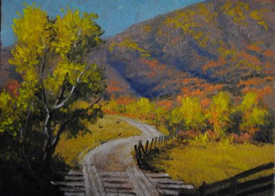 5x7 Paintings - Wasatch Road