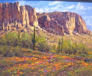 Desert Landscapes - Desert Flowers 24x30 (Sold)
