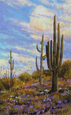 Watercolors - Dessert Landscape 10x8  $750