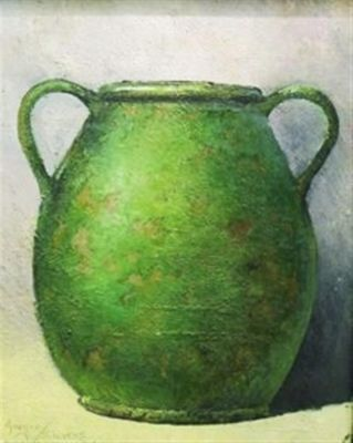 Clay Pots and Vessels - Emerald vewssel 20x16 $ 2500