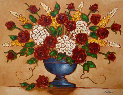 Impasto - Flower Pattern 36x48 3900