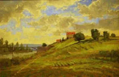 European Landscape - French Countryside 24x36  $5500