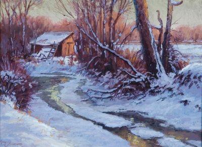 Western Landscapes - Frozen Stream 16x20 $2500 SOLD