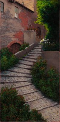 RECENT Works - Tuscan Staircase 48x24 (Sold)