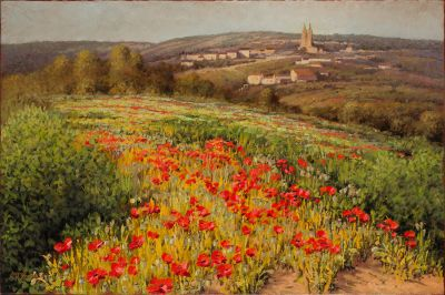 RECENT Works - Poppy Fields Southern France 24x36 $5500