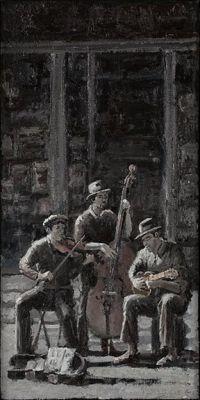 Tonalist - Street Musicians 16x20 $3500