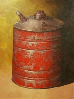 Clay Pots and Vessels - Gas Can  48x36  $5500