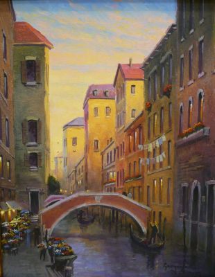 European Scenes - Grand Canal 16x20  $2500 SOLD