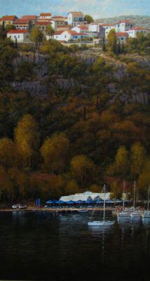 European Landscape - Greek Harbor 64x36  $9500