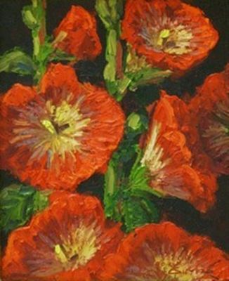Still Life - Hollyhocks 10x8 $850