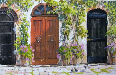 Watercolors - Vines and Doorways 7x11  $750