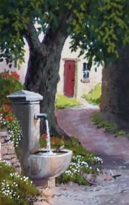 Watercolors - Fountain 9x7  $750