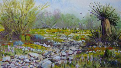 Watercolors - desert study 5x7 $650