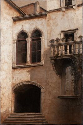 Tonalist - Juliets Balcony 36x24 $6500