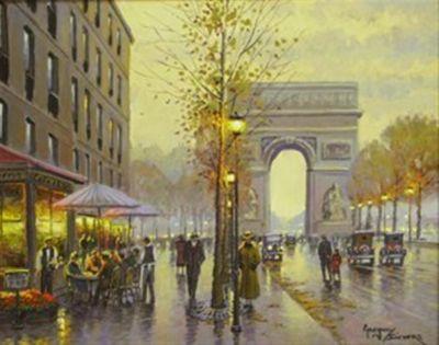 Street Scenes - L Arc 16x20  (Sold)