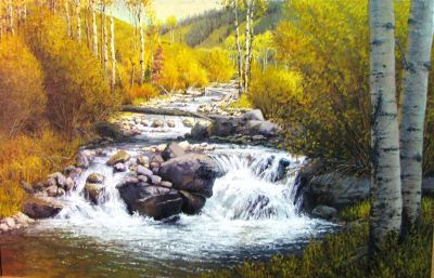 Western Landscapes - Mountain Creek 48x72  $12500 (sold)