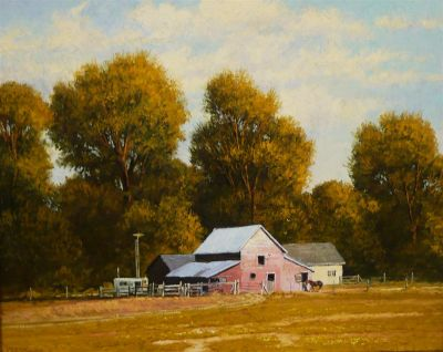 Western Landscapes - Old Barn 24x30 $4500 (sold through May Gallery)