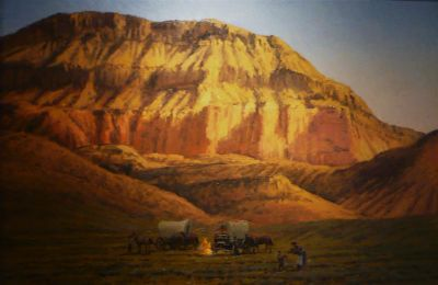 Desert Landscapes - 24x36 Desert Camp $6500