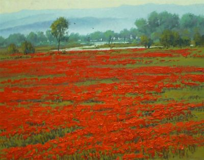European Landscape - Poppy Field 24x30  $4500