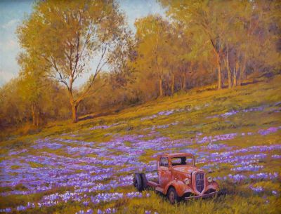 Western Landscapes - Retired Truck 24x30 $4,500