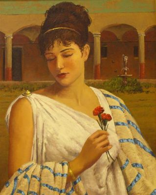 Figurative - Roman lady 30x24  $5500