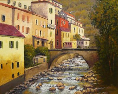 European Scenes - Stepping Stones 24x30  $4500