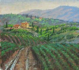 European Scenes - Through the Vineyards 16x20 $3200 SOLD