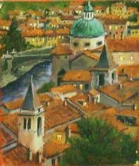 European Scenes - Sienna 9x12 $1500