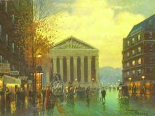 Street Scenes - La Madeline 12x16 $3250