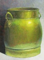 Clay Pots and Vessels - Brass Pail 48x36 $5000