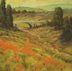 European Landscape - Roman Aquaduct 24x24 $3900
