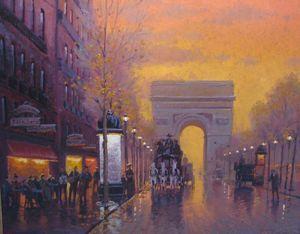 Street Scenes - Street Lights in Paris 24x30 $5500
