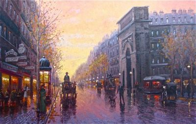 Street Scenes - Streets of Paris 24x36 $5700