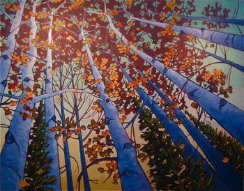 Contemporary Outdoor - Through the Branches 48x60 $5900
