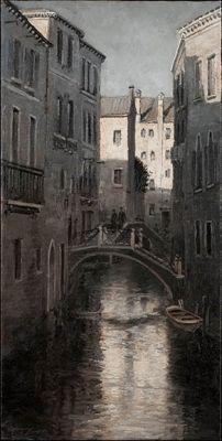 Tonalist - Venice Canal 30x15 $4500