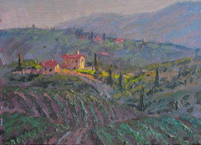 5x7 Paintings - Villa 5x7