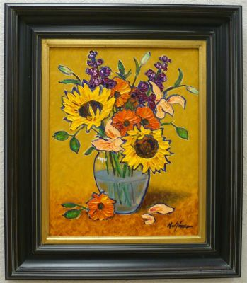 Impasto - Wilting Sunflowers 20x16 1200 SOLD
