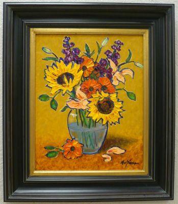 Impasto - Wilting Sunflowers 20x16 1200 SOLD