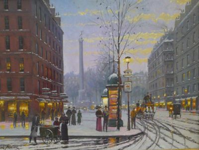 Street Scenes - Winter Road 16x20  $3250